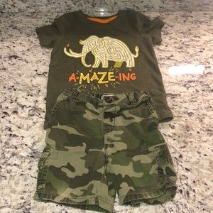 Toddlers Cat&Jack Shirt & Children's Place Shorts